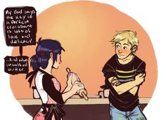 mikavee: i like the idea of adrinette baking sessions (and adrien being the one inviting himself over) Ladybug Comics, Miraclous Ladybug, Marinette Ladybug, Marinette Et Adrien, Daddy, Miraculous Ladybug Fan Art, Arte Disney, Bugaboo, Funny Love