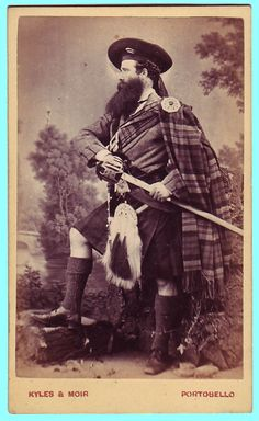 CVD c1870's ~ Now THAT'S a Scot!