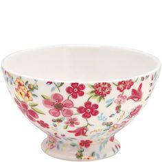 """GreenGate Stoneware Soup Bowl """"Sophia"""" White"""