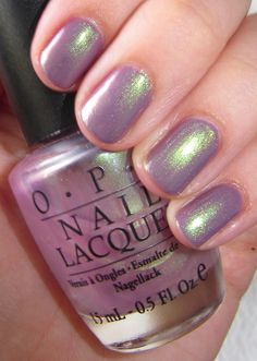 Alli McBally: 'OPI - Parlez-Vous OPI?' topped with sheer 'OPI - Significant Other Color'