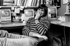 If you had three Macs on your desk in 1984, I'd bet you'd be smiling too. #SteveJobs