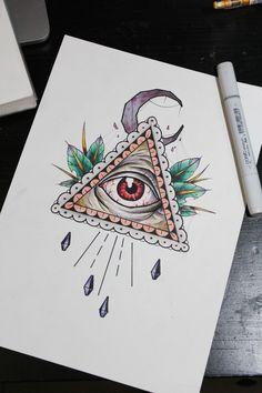 All seeing eye tattoo  Eye of providence tattoo