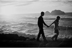 San Francisco Engagement Photography - Sutro Baths sunset