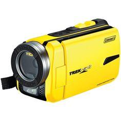 COLEMAN CVW20HD-Y 16.0 Megapixel 1080p TrekHD2 Underwater Digital Video Camcorder (Yellow)