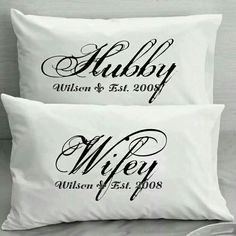 His/hers pillow set