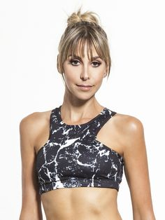 Stone Temple Medium Support Sport Bra in Black by L'urv from Carbon38