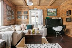 Salon w rustykalnym stylu