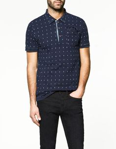 Zara diamond print polo (JW)