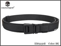 Emersongear Tactical 1.5 Inch Belt Hook and Loop Shooter Belt Military Airsoft Nylon Belt Hunting Accessories EM9250 Black