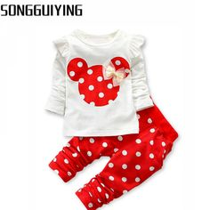 Baby Sets | Long Sleeve Bowknot T-Shirt+Pants | Summer Clothing Set  Price: 9.00 & FREE Shipping  #babyshower Sport Outfits, Summer Outfits, Girl Outfits, Girls Sports Clothes, Babies Clothes, Polka Dot Pants, Polka Dots, Kids Tops, Kids Suits