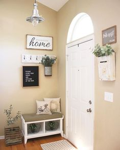 Besides tables, you can rely on benches as your house's entryway furniture. An entryway bench can be. bench decor 59 Entryway Bench Ideas that are Useful and Beautiful Flur Design, Entryway Furniture, Entryway Ideas, Small Entryway Decor, Entryway Lighting, Entryway With Bench, Small Entryway Organization, Small Apartment Entryway, Diy Furniture