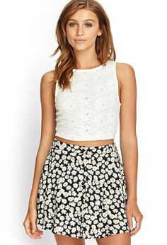 Floral Lace Crop Top | FOREVER21 #SummerForever