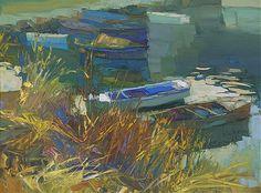 Nicola Simbari - Boats On A Pond, 1965
