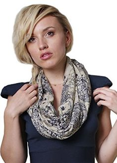 Women's Edgy Skull Sketch Trendy Fashion Infinity Loop Scarf at Amazon Women's…