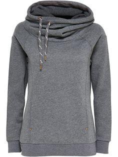 ONLY Langärmeliges Sweatshirt., Kapuze und hoher Kragen mit Kordelzug ...