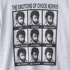 The many emotions of Chuck Norris