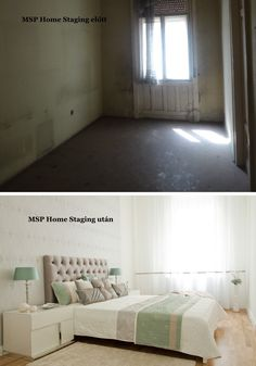 Az itt látható képeken döbbenetes különbségeket láthatunk a Home Staging előtti és utáni állapotokra. Az első képen az eredeti állapot láth...