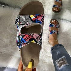 Summer Women Beach Cork Slippers Ladies Casual Double Buckle Shoes – #slippersoutfit #slipperscute #slipperscozyhouse #slippersoutfitlazydays #slippersoutfitcasual #slippersoutfitschool #slippersoutfitsummer #slipperscozy Sandals Outfit Summer, Summer Shoes, Shoes For College, Flip Flop Shoes, Thick Heels, Prom Shoes, Woman Beach, Ladies Slips, Fashion Heels