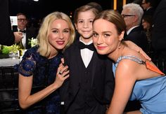 Pin for Later: 76 Moments From the SAG Awards That You Probably, Definitely Missed  Pictured: Naomi Watts, Brie Larson, and Jacob Tremblay