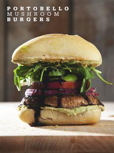 Easy Portobello Mushroom Burgers (Vegan) | picklesnhoney.com