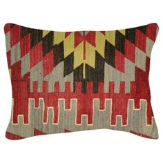 Check out this item at One Kings Lane! Geometric Turkish Kilim Pillow