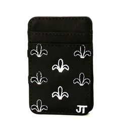JT Magic Wallet Color: Black and White #couro #bordado #fashion #accessories #moda #style #design #acessorios #leather #joicetanabe #carteira #carteiramagica #courolegitimo #wallet