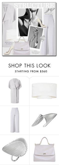 """""""Structured look"""" by littlefeather1 ❤ liked on Polyvore featuring Roland Mouret, Rosetta Getty, Georg Jensen, Dolce&Gabbana, Dsquared2, chic, topsets and polyvoreeditorial"""