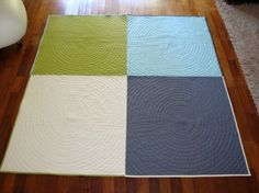 Simple but the quilting pattern is really what makes this an amazing quilt.