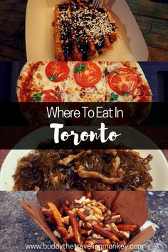 Wondering where to eat in Toronto? In this post we've narrowed down our favorite eateries to help make planning your trip a bit easier.    #Toronto #Canada #food via @BuddyTTMonkey