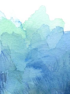 Abstract Watercolor Texture Blue Green | Olechka, Society6