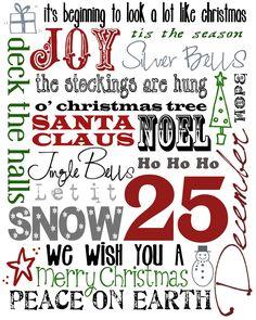 Christmas subway art - Free Printable Look to use in December Daily Christmas Subway Art, Christmas Tree And Santa, Winter Christmas, Merry Christmas, Christmas Quotes, Christmas Poster, Christmas Greetings, Christmas Plaques, Christmas Typography