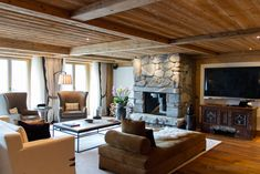 Inside The Alpina Gstaad, Panorama Suite, Switzerland Boutique Hotels, Alpine Hotel, Gstaad Switzerland, Chalet Design, Game Lodge, Hotel Lobby, Hotel Reviews, Hotels And Resorts, Living Room
