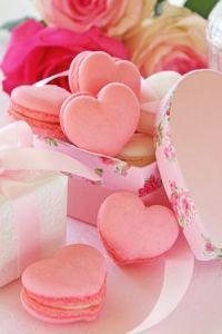 Sweet Pink Heart Wedding Macaron