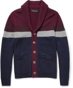 Rag and Bone Striped Wool-Blend Cardigan on shopstyle.co.uk