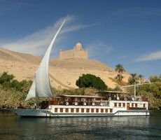 Dahabiya also spelled (dahabeah, dahabeeyah, dahabiah, dahabiyah and Dahabia) .These river-going sailboats were common in Egypt in the days of the monarchy (1920s-40s) when travelers loved to cruise the Nile in style. We've revived those elegant days, but with modern comforts. The Dahabiya cruise is an original and peaceful option to navigate on the river Nile and discover the most singular places of the landscape.