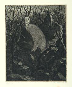 """Hugo Steiner-Prag: Ilustración de """"El Golem"""", de Gustav Meyrink (1916)"""