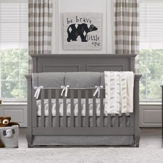Liz and Roo Crib Bedding Set in Cubby | Shop adorable woodland themed nursery items at SugarBabies Boutique!