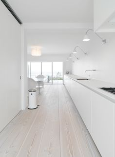 white, wood, minimalist | Get these cabinets from REHAU Cabinet Doors…