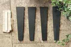 Slate garden markers