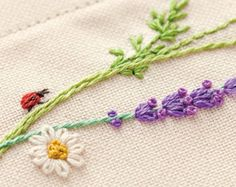 Japanese Embroidery Kit Beginner Kazuko Aoki by JapanLovelyCrafts