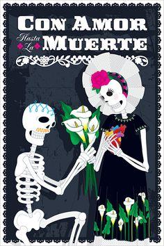 Día de Muertos by Ramon Navarro, via Behance muy lindo!!