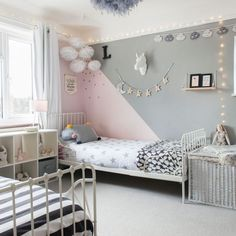 Looking for girls& bedroom ideas? A girls& bedroom needs to be a flexibl. Looking for girls& bedroom ideas? A girls& bedroom needs to be a flexible space, accommodating their changing needs from babyhood through to teenage years Teen Girl Rooms, Teenage Girl Bedrooms, Teen Bedroom, Modern Bedroom, Tomboy Bedroom, Girls Bedroom Curtains, Master Bedroom, Childrens Bedroom Decor, Mirror Bedroom