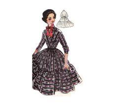 Vintage Sewing Pattern 1956 Swing Dress Pattern No 33 Kaye EmbonpointVintage