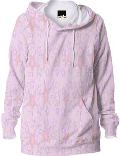 Soft Pink Stars Hoodie from Print All Over Me