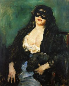 Lovis Corinth (German 1858-1925) The Black Mask, 1908. Staatliche Museen, Kassel
