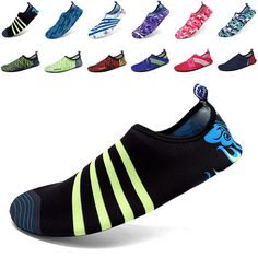 EQUICK Men Women and Kids' Quick-Dry Sports Water Shoes Aqua Socks with Holey Ventilation Sole ** Visit the image link more details.