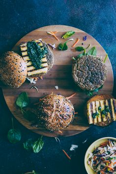 "Burgers don't always have to be ""standard"". Change it up a little - try these chickpea and quinoa burgers wth halloumi."