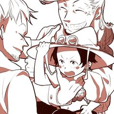 Thatch, Portgas D. Ace and Marco #one piece