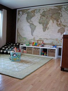 Map Wall Childrens Room Pinterest Boys World Map Wall And - Wall map children's room