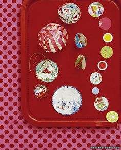 """Christmas: Christmas Ornaments for Kids - Martha Stewart"" -gift tags and garlands made from recycling your Christmas/Holiday cards."